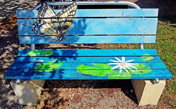 painted bench - butterfly | my secret garden | Pinterest ...
