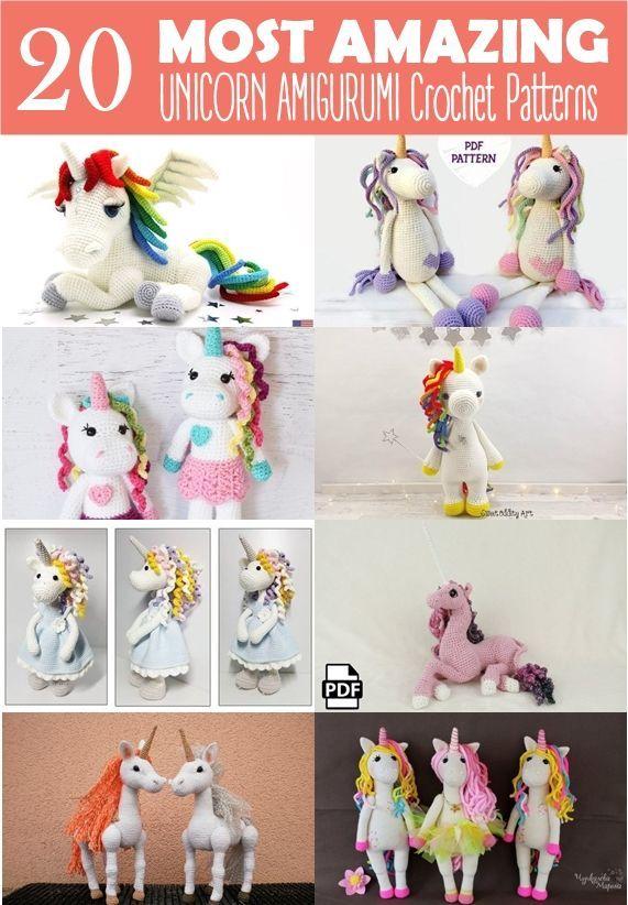20 Most Amazing Unicorn Amigurumi Patterns   cosas para hacer ...