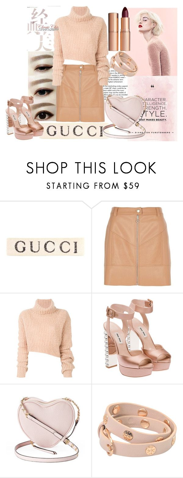 """""""Classic Chic"""" by dariafrank ❤ liked on Polyvore featuring Tiffany & Co., Gucci, River Island, Ann Demeulemeester, Miu Miu, Marc, Juicy Couture, Tory Burch and Charlotte Tilbury"""