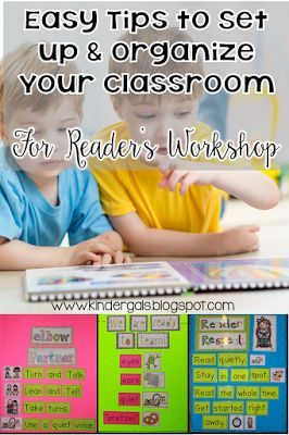 Easy tips to set up and organize your classroom for Reader's Workshop! Great tips for kindergarten and 1st grade teachers!