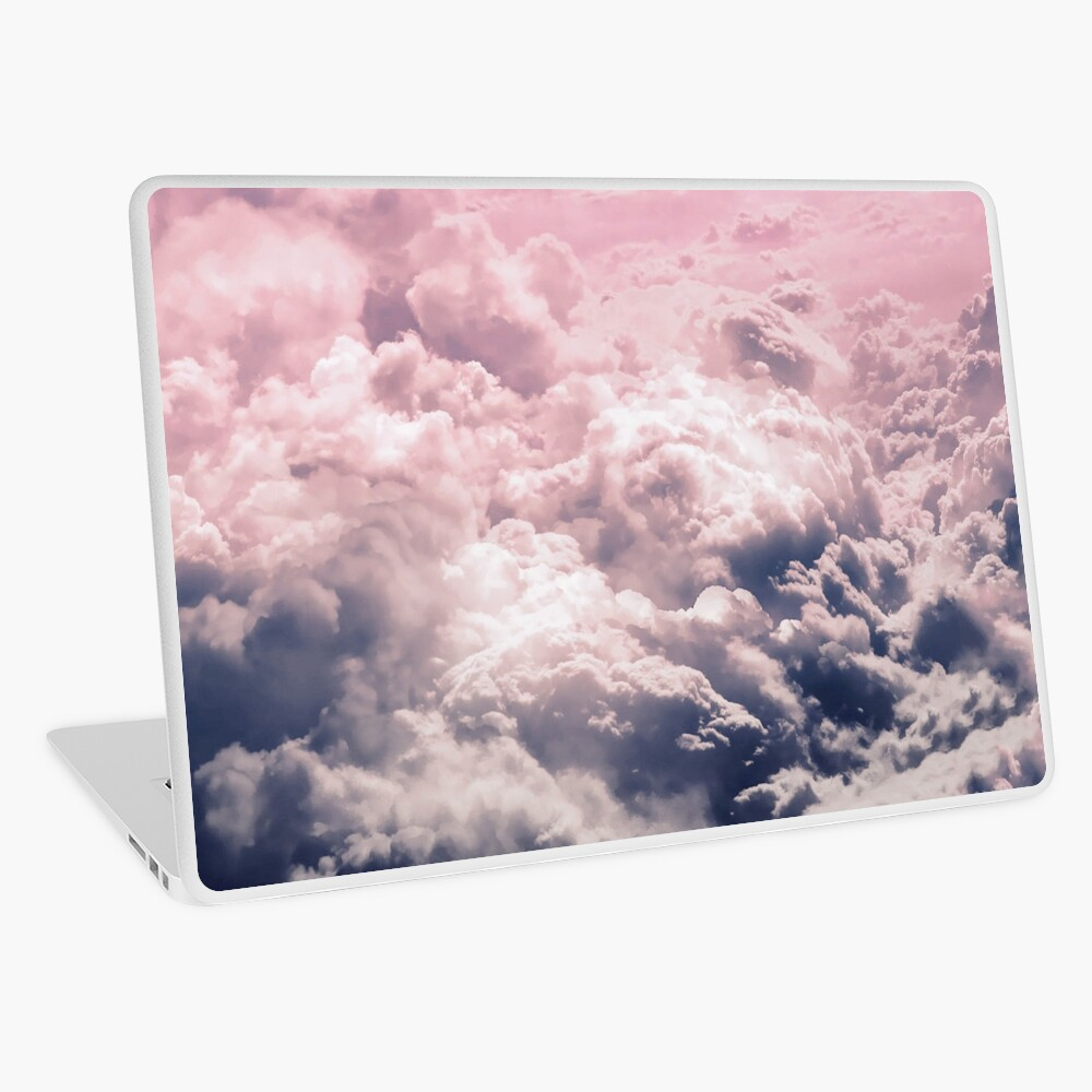 Romantic Pink Clouds Laptop Skin By Rainbowcanvas Redbubble Pink Clouds Clouds Romantic