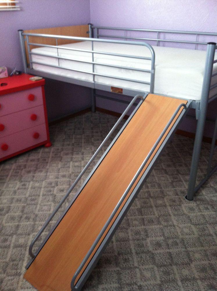 Best Loft Bed With Slide Memory Foam Mattress Twin Size Ikea 400 x 300