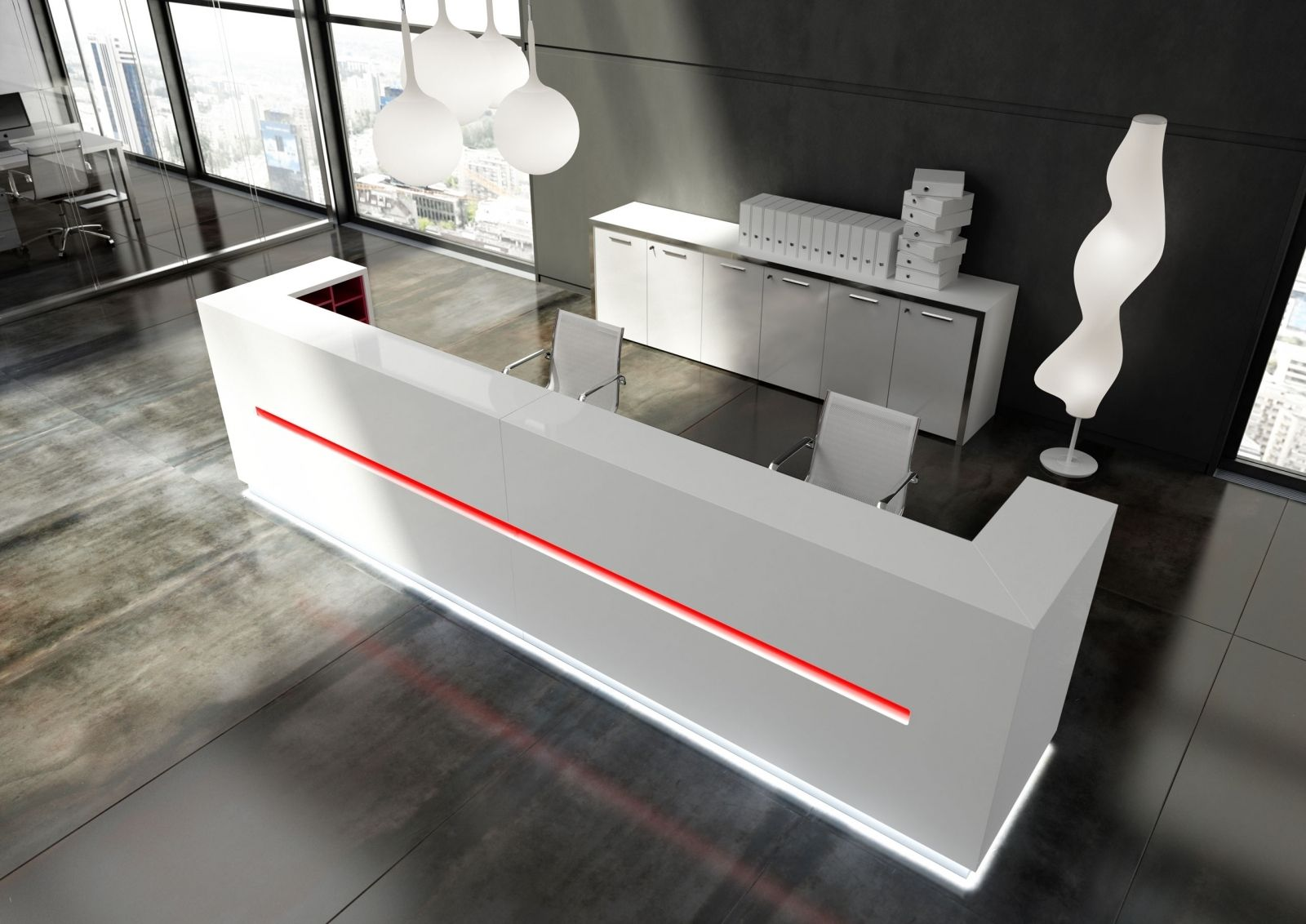Cool Modern Desks Delightful Modern White Reception Desk
