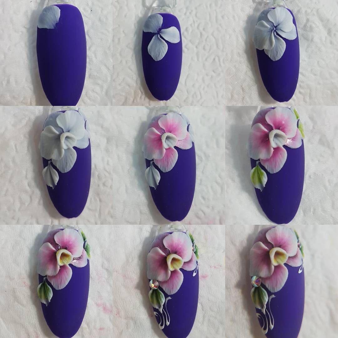 3 мая Курс Лепка пластилином. Запись 89183155474 | Цветочные ногти ...