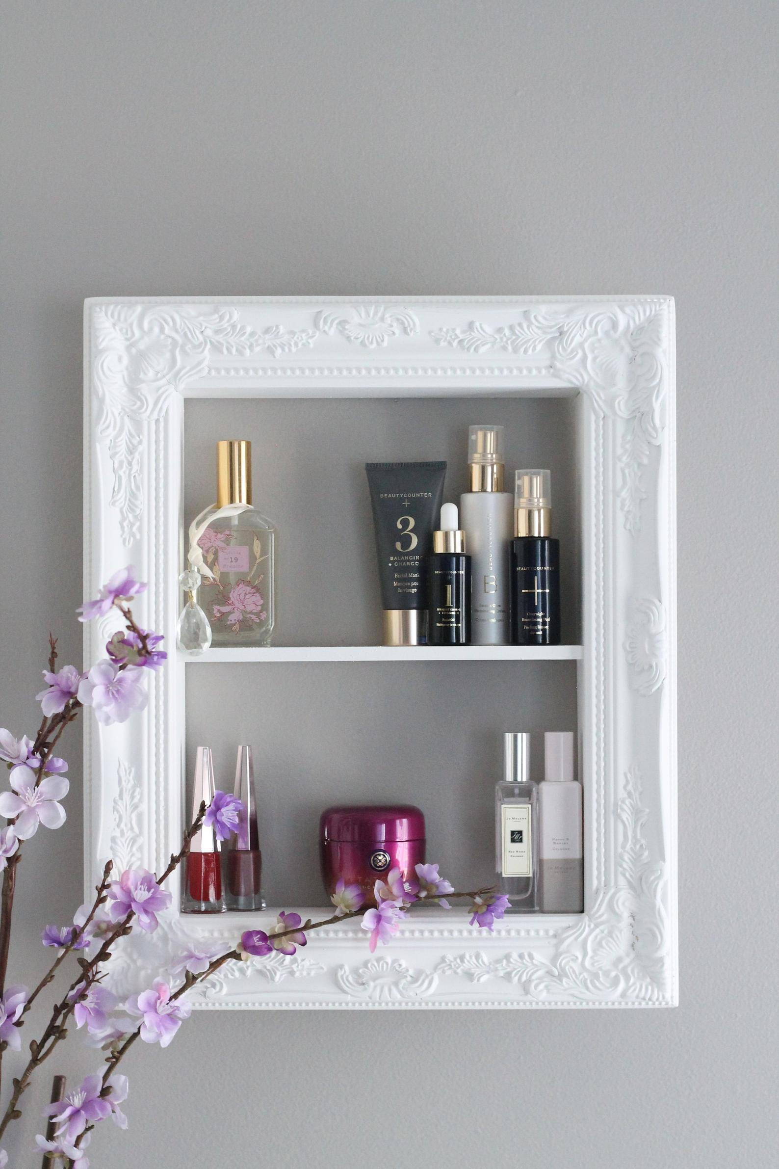 Wall Mounted Perfume Shelf Beauty Product Shelf Makeup Rack Skincare Storage Perfume Rack Beauty Product Storage Frame Perfume Frame Rack Beauty Storage Perfume Storage Makeup Storage