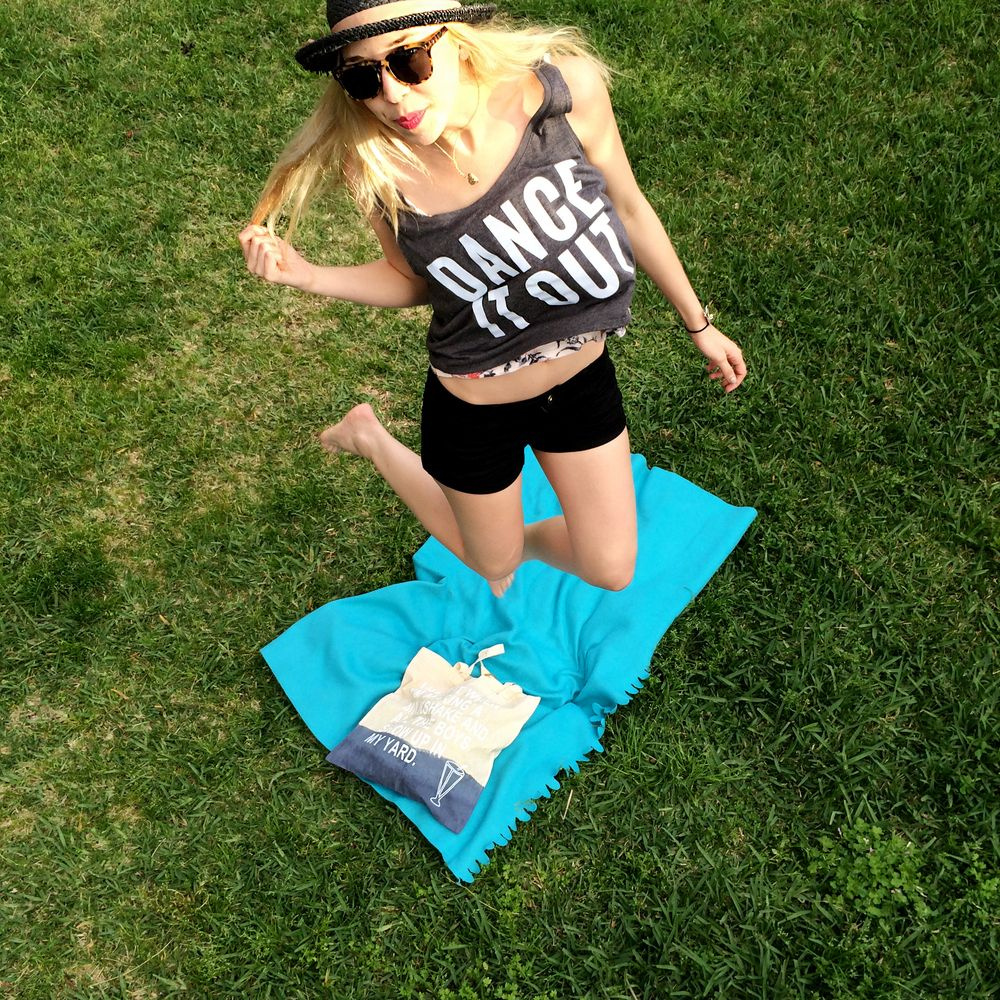 Get Happy and Dance it Out // Glow in the dark tank by Flying Fox