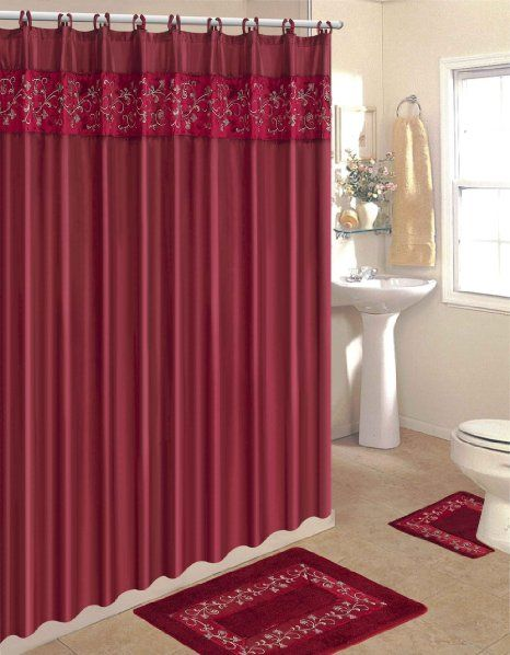4 Piece Bath Rug Set 3 Pink Zebra Bathroom Rugs With Fabric Shower Curtain And Matching Rings