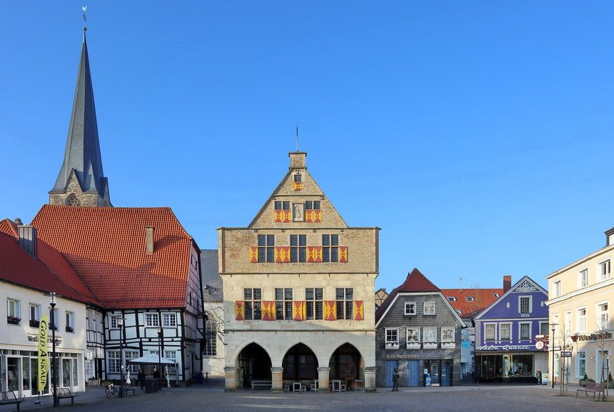 Our Little Town | fotoforum.de Werne a.d. Lippe, Historisches Rathaus, Markt