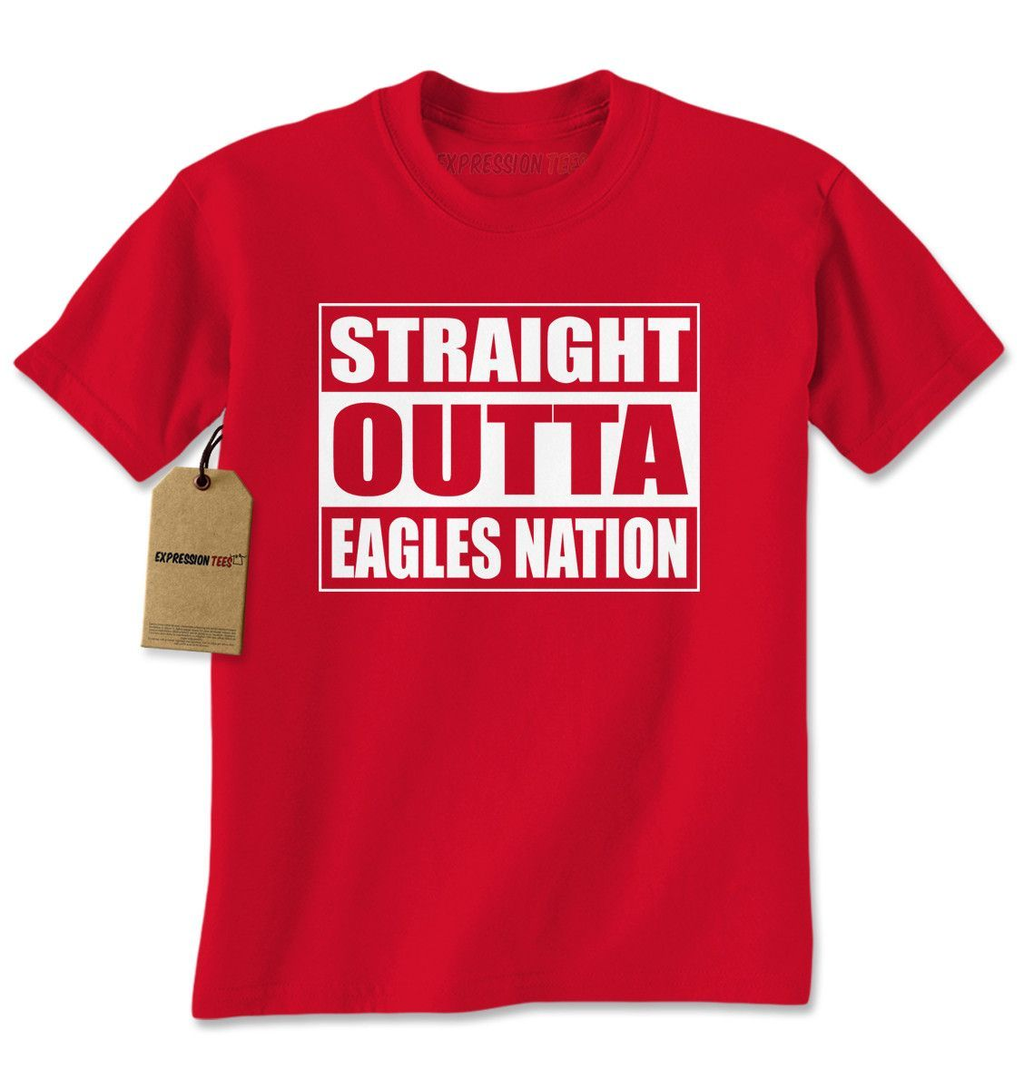 Straight outta eagles nation football mens tshirt products