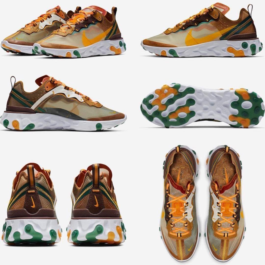 Nike React Element 87 Orange Peel Color