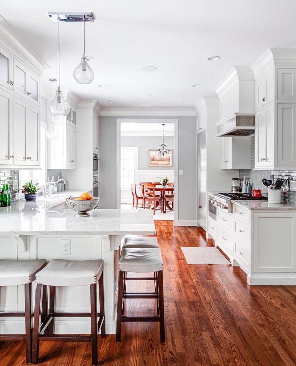 44 Stylish White Kitchen Design Ideas For Your Home - HOMEWOWDECOR