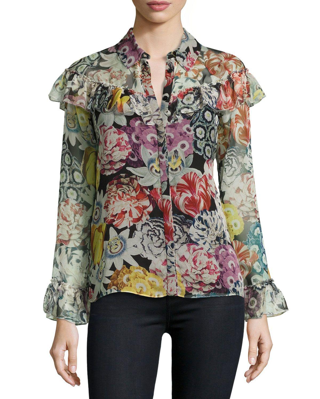 43d97e39ee5 Burberry Floral Blouse
