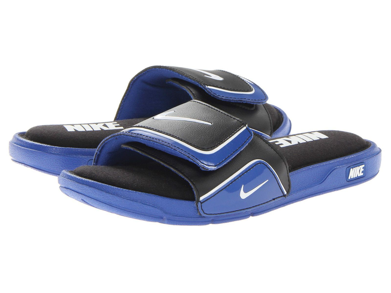 6c66b2de69f2 New Men s Nike Comfort Slide 2 - Game Royal Black White - Size - 7 ...