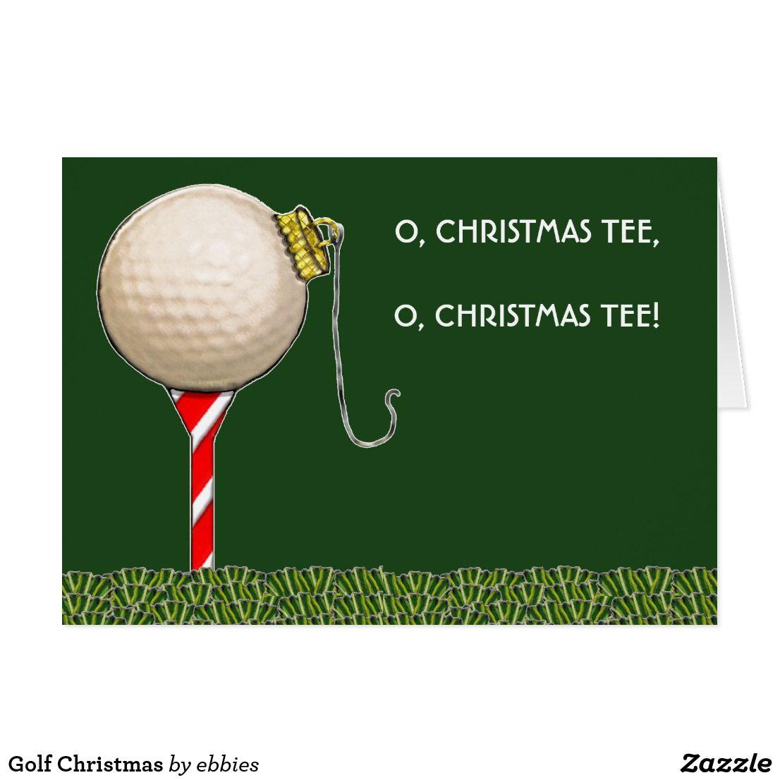 Golf Christmas Holiday Card | Christmas Cards | Christmas Cards ...