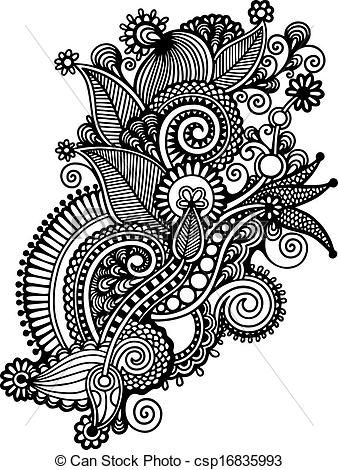 Graphic design art black and white  black and white design drawing - Google Search | Paisley : B/W ...