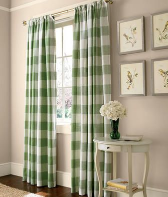 Linen Check Rod Pocket Curtains A Bold Scale Buffalo Check Is Timeless And Fresh From Country