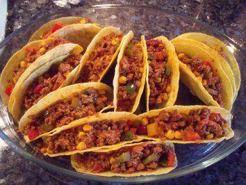Überbackene Tacos - Rezept mit Bild