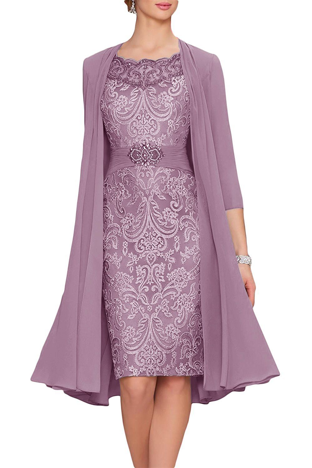 the latest 2875a 42cec Newdeve Chiffon Mother Of The Bride Dresses Tea Length Two ...