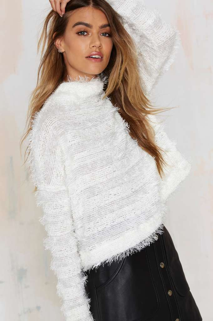 After Party Vintage Fuzz Off Crop Sweater - Clothes | After Party | Best Sellers | Pullover