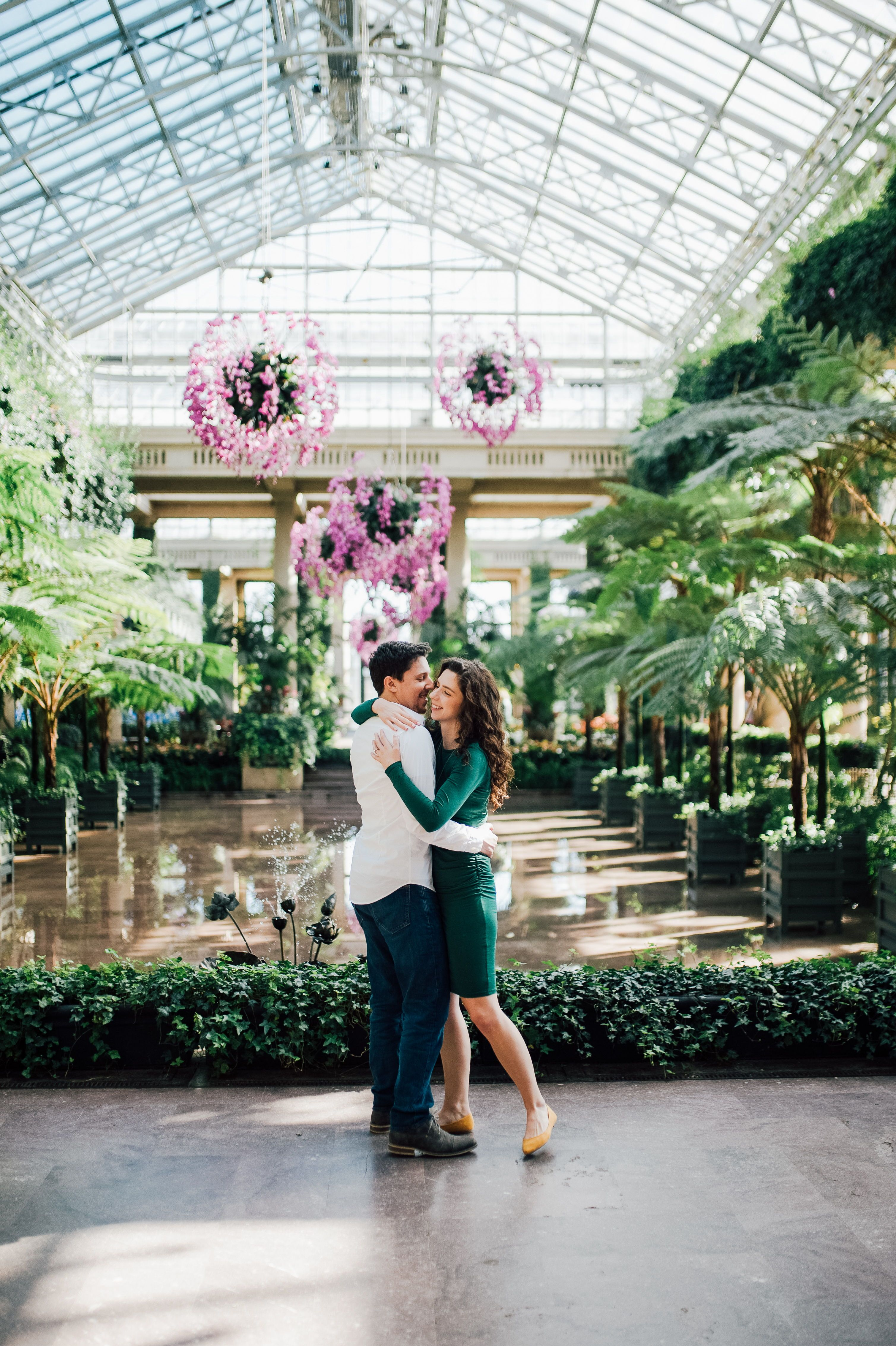 Pennsylvania Engagement Shoot Longwood Gardens Engagement Photos