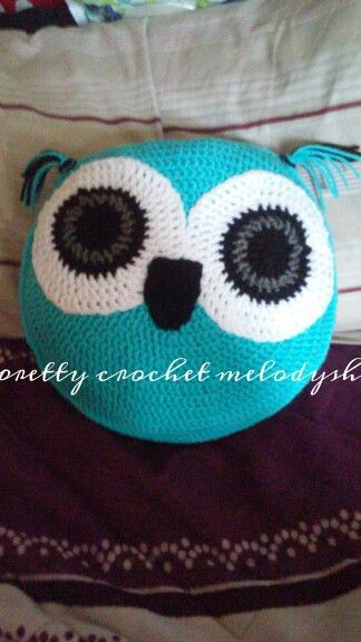 Owl pillow crochet