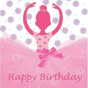 Happy Birthday Pink Ballerina Cumples Pinterest Feliz
