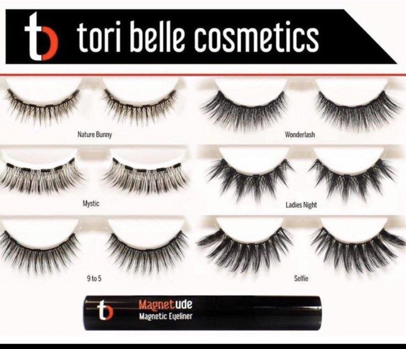Tori Belle Magnetic Eyelashes And Liner Etsy Magnetic Lashes Magnetic Eyelashes Lashes