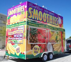 Concession Trailer Smoothie Culinary Food Trucks Pinterest