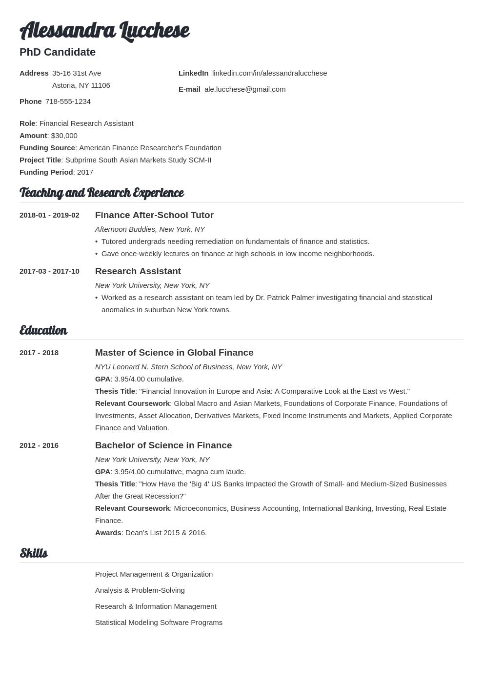 graduate school resume example template valera  resume