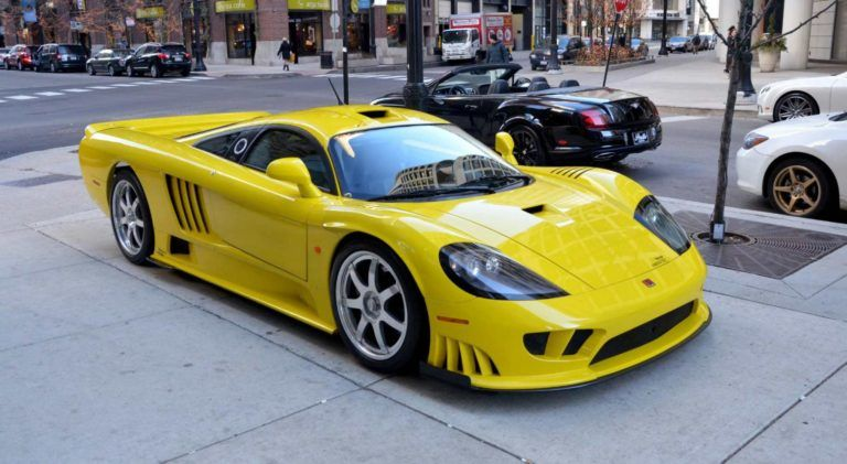 Gold Yellow Saleen S7 Twin Turbo Auto