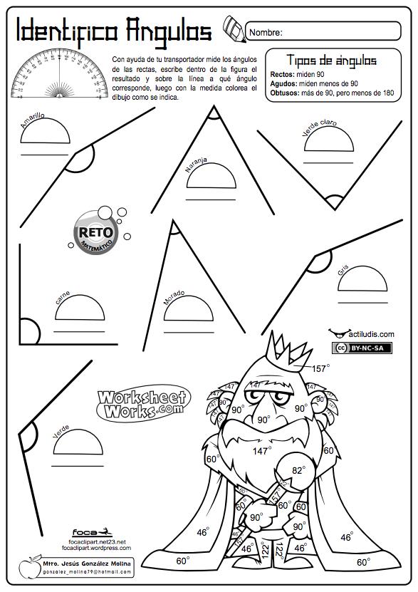 Resultado de imagen para actividades de ángulos tercer grado ...