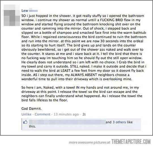 Probably the funniest story posted on Facebook… | Things I