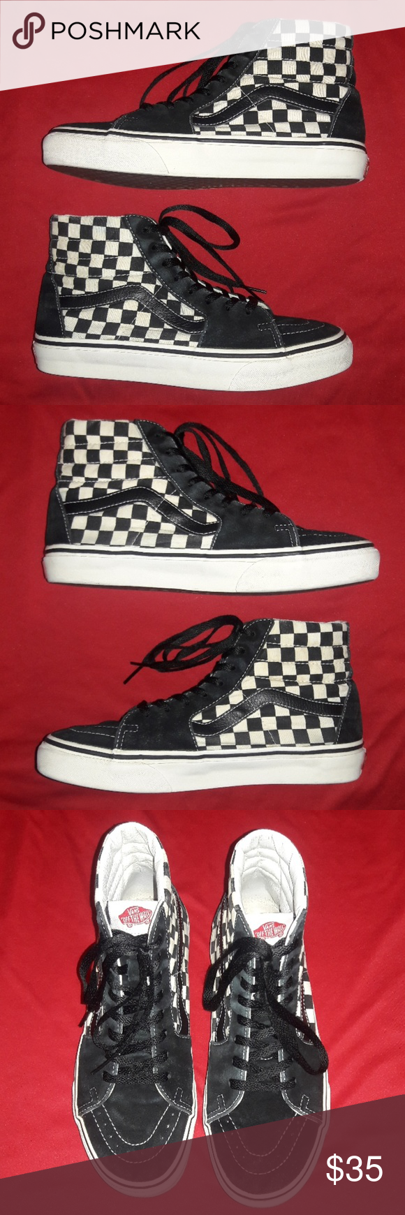 2fa592cc633384 I just added this listing on Poshmark  Checkered Vans Sneakers.   shopmycloset  poshmark  fashion  shopping  style  forsale  Vans  Other