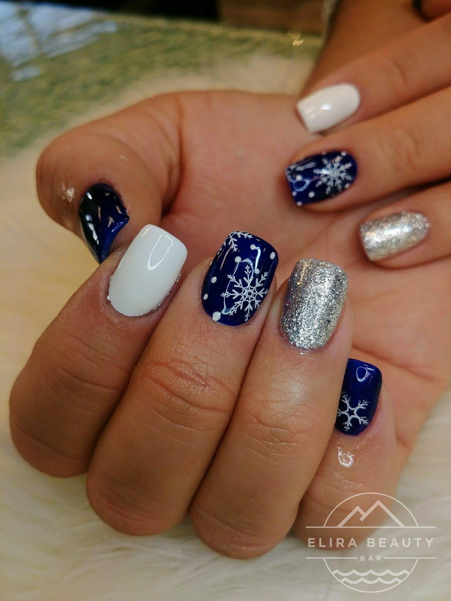 Winter Nails Snowflake Nails Cute Spring Nails Christmas Nails Acrylic