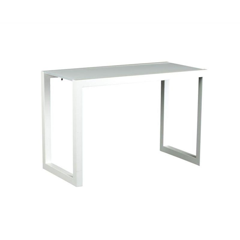 Royal Botania Ninix Lounge Tisch hoch, Aluminiumgestell-Glasplatte - lounge gartenmobel mit esstisch