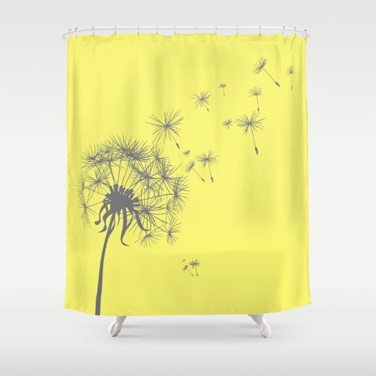 Bright Sunny Yellow Gray Dandelion Bathroom Pinterest