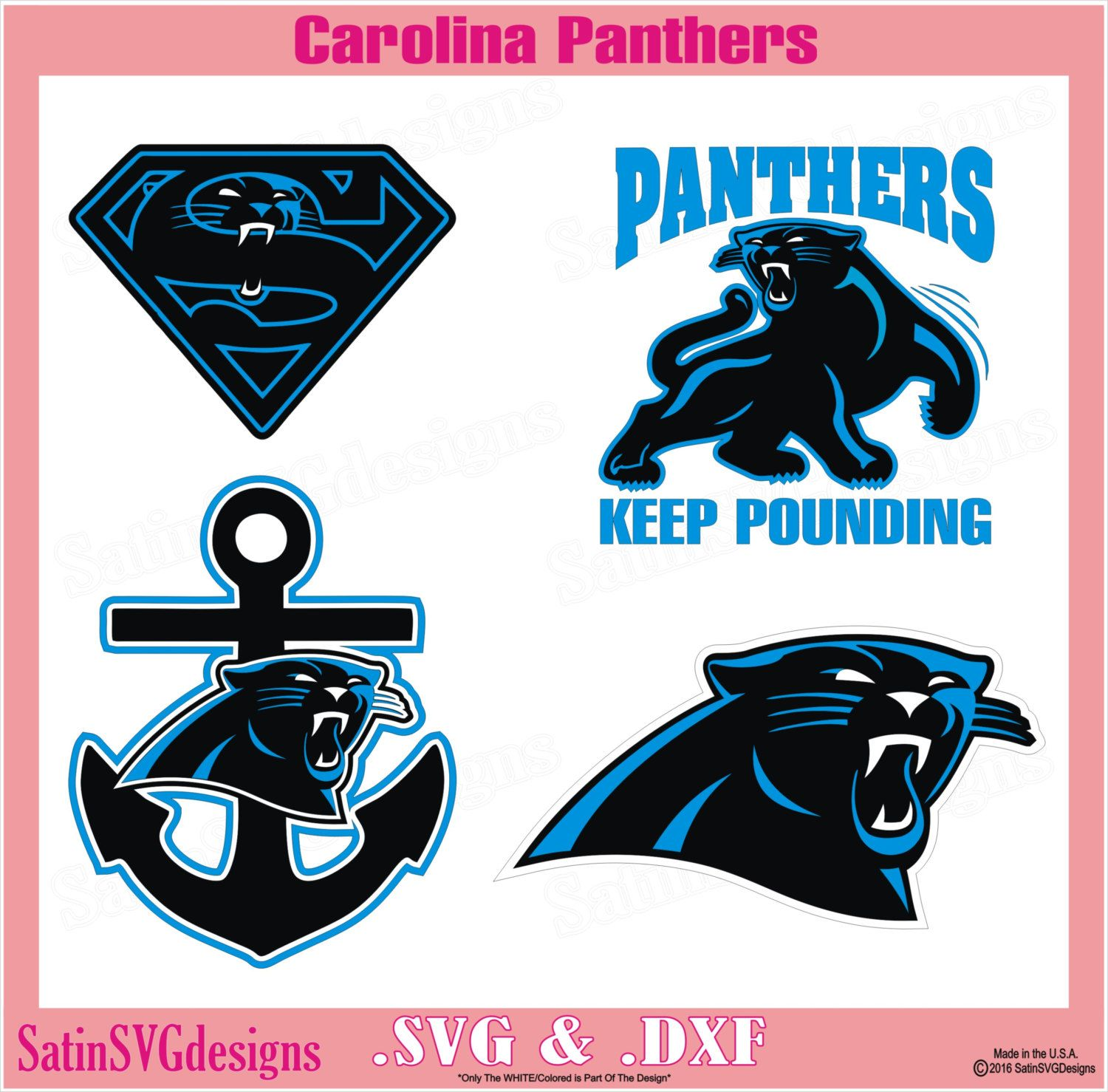 Carolina Panthers Set Design Files Use Your Silhouette