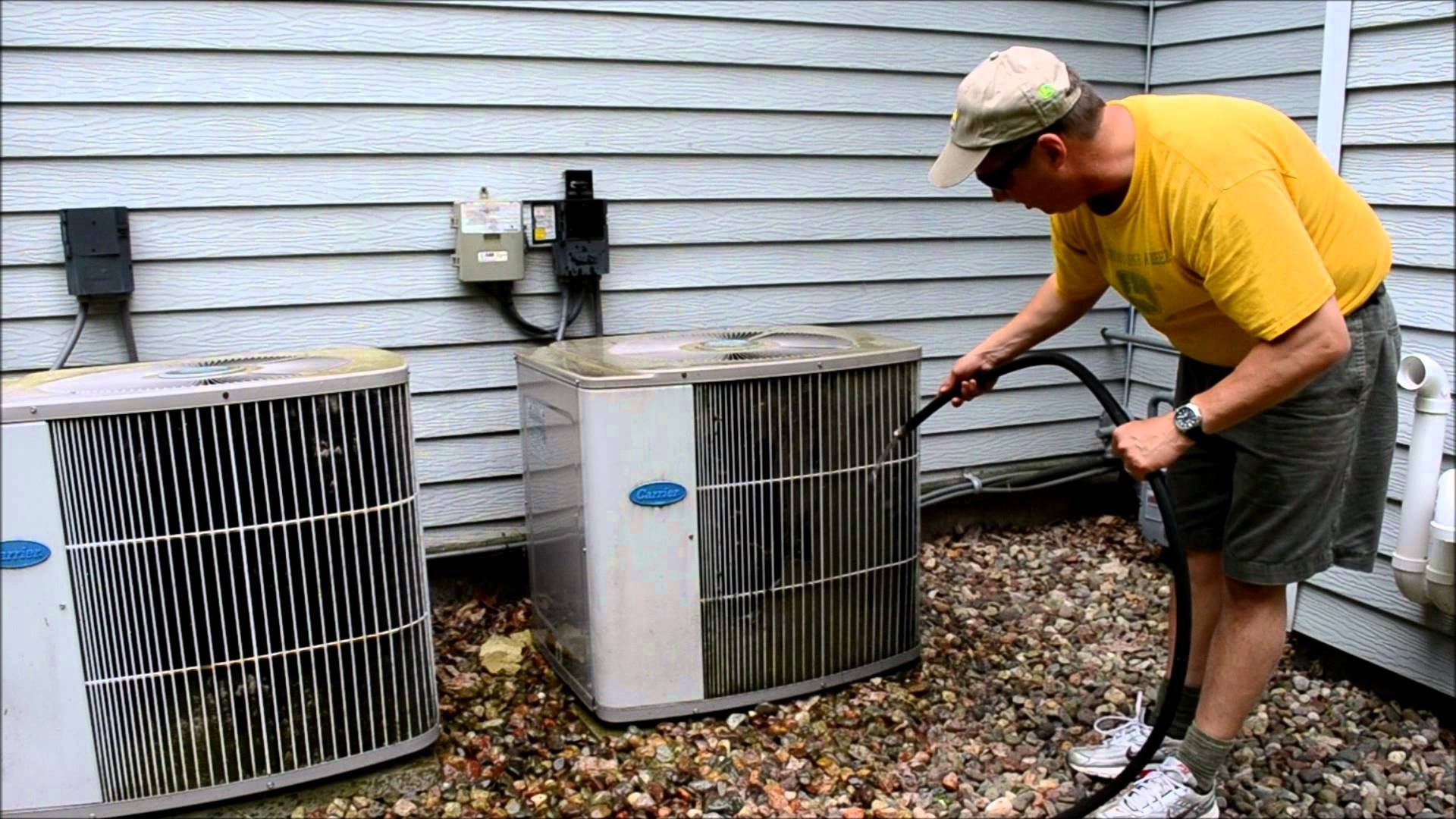 Cleaning air conditioner coils how to video clean air