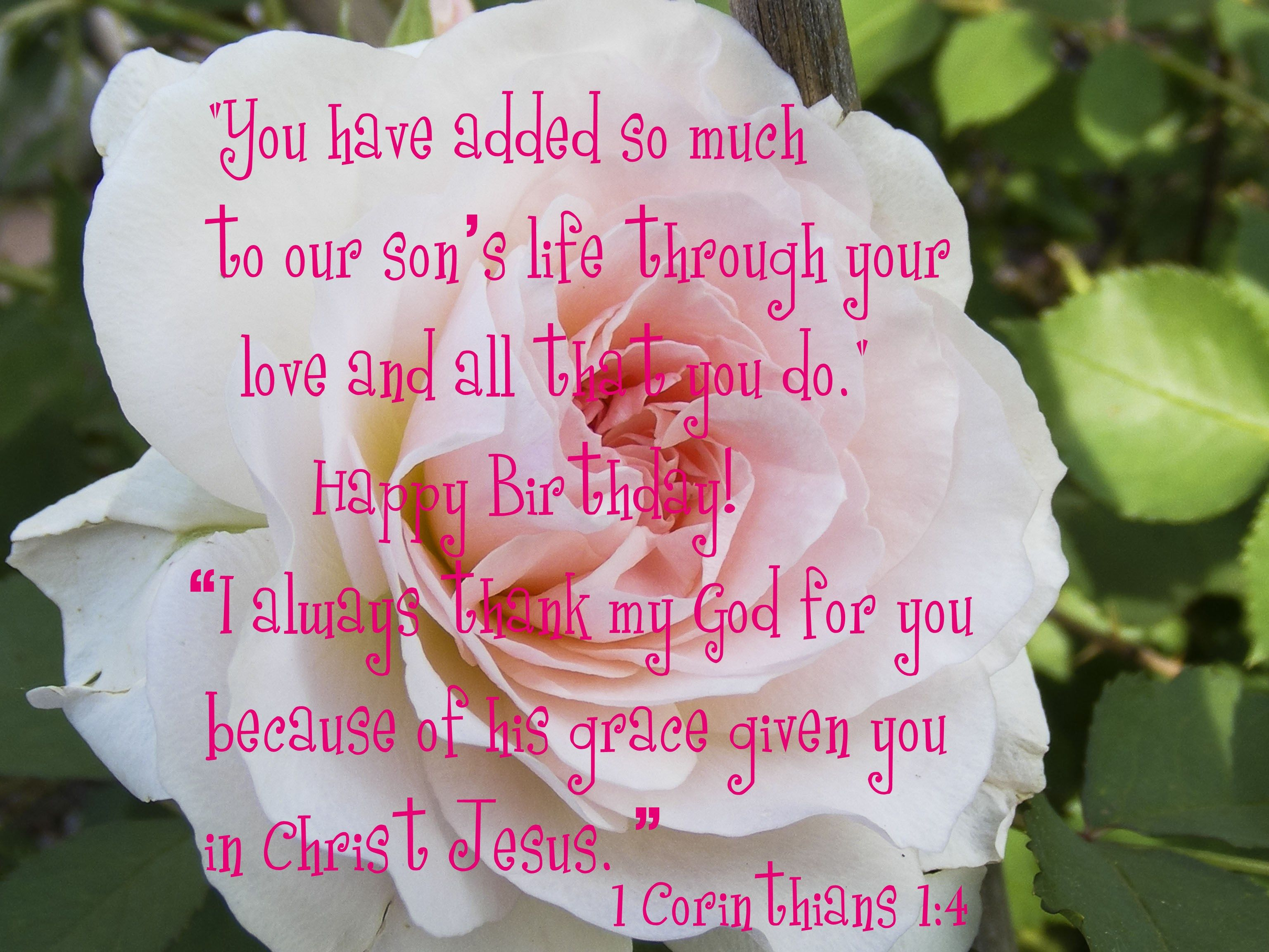 Birthday Quote For Daughter In Law With 1 Corinthians 14 Quotes