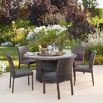 st louis 7 piece woven dining set in 2019 outdoor furniture rh pinterest com