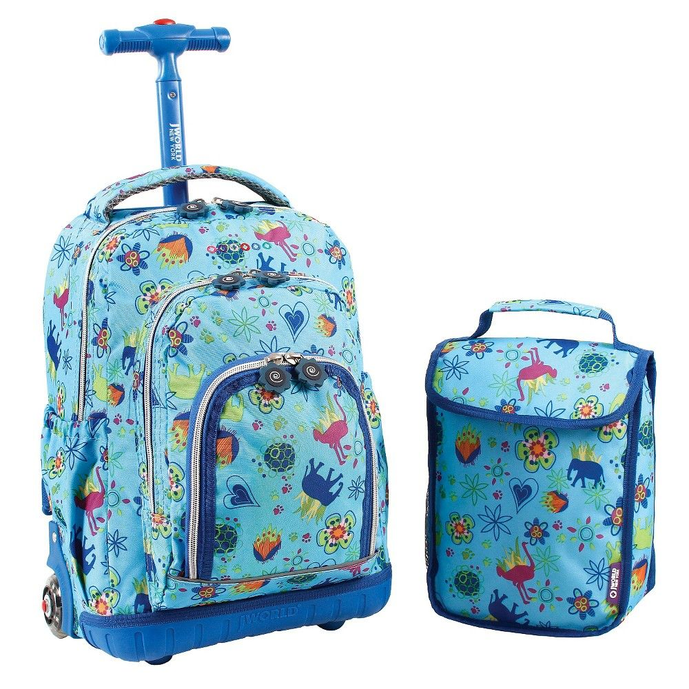 J World 16 Lollipop Rolling Backpack - Neon, Squares Neon ...