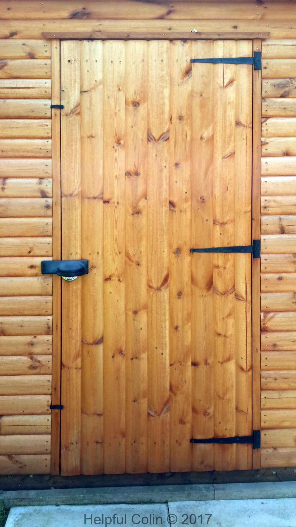 This Is My Shed Door Which I Have Made Secure With A