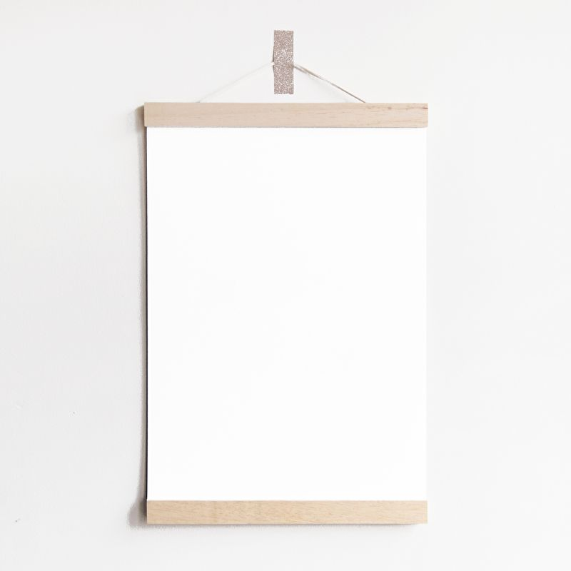 Poster hanger A4 hout