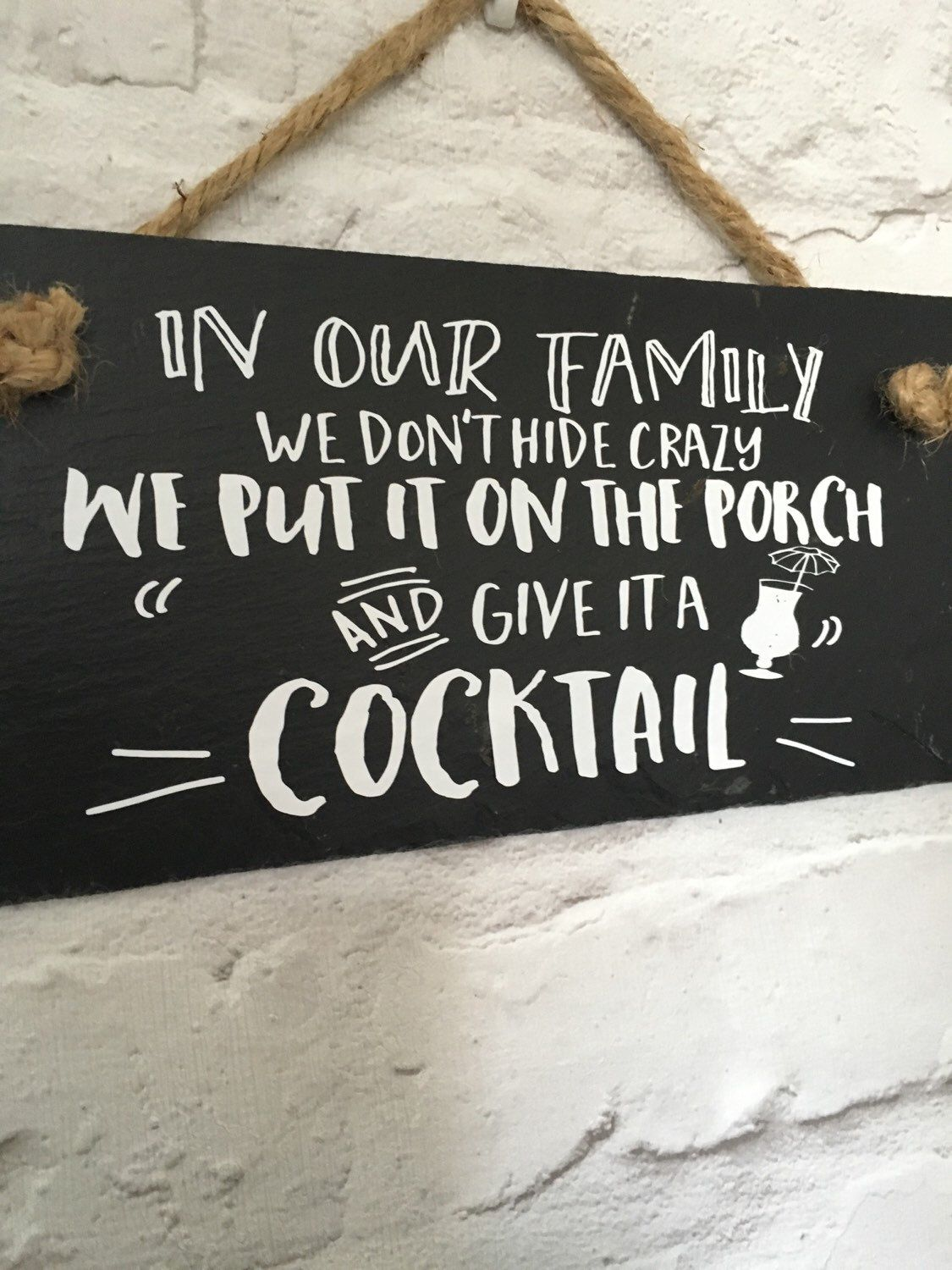 Family Quote Crazy Family Sign Family Slate Sign Crazy Family Quote Funny Family Sign Family Gift Sign Funny Family Quote Funny Signs Family Quotes Funny Crazy Family Quotes Family Quotes