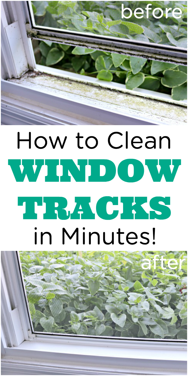 How to Clean Dirty Window Tracks #cleaning