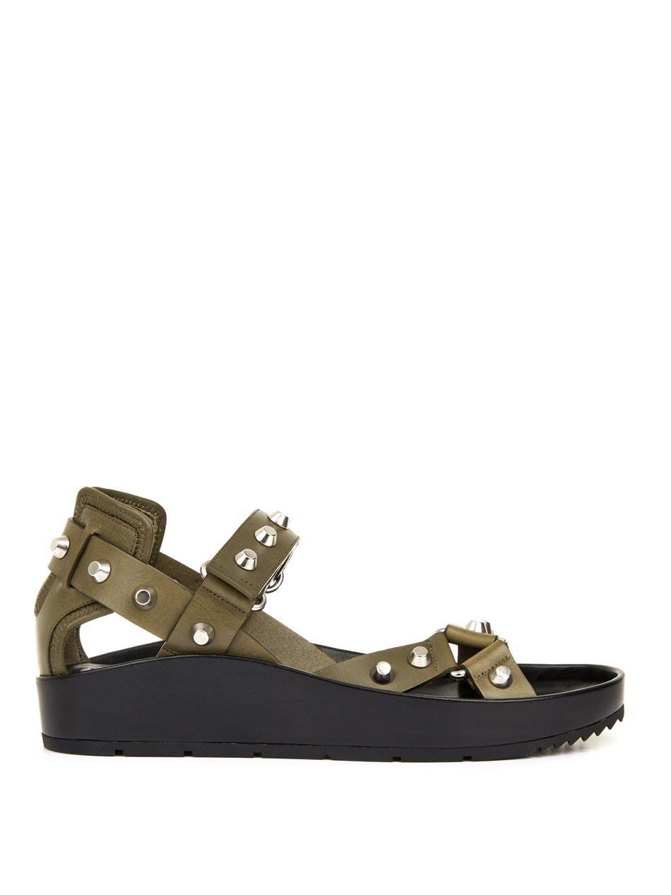 e4d7e281ba06 Arena stud leather platform sandals