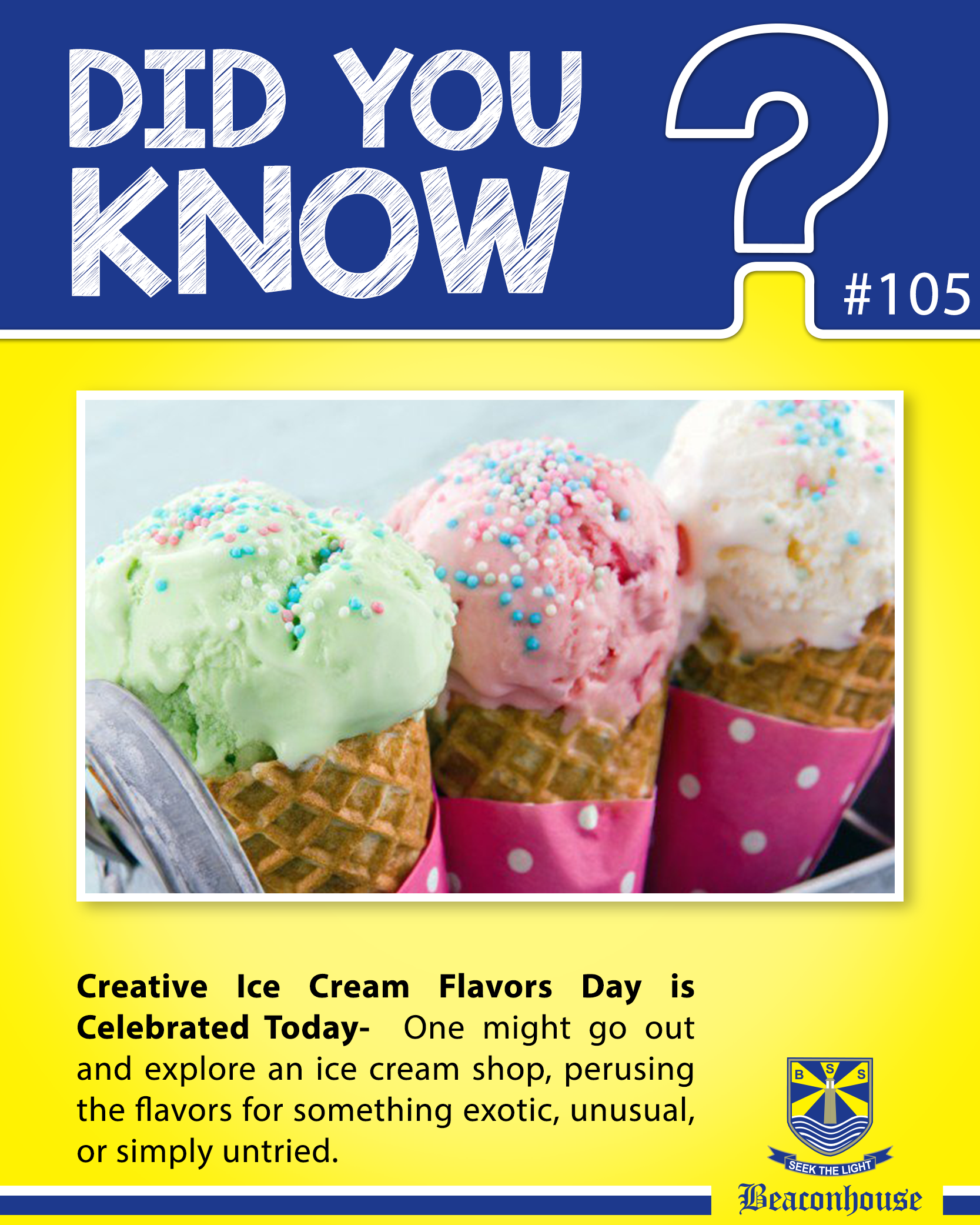 Didyouknow Creative Ice Cream Flavors Day Is Celebrated Today One Might Go Out And Explore An Ice Cream Shop Per Ice Cream Frozen Yogurt Ice Cream Flavors