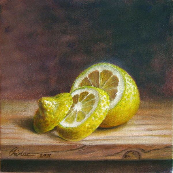 Classical realism oil painting. Fine art still life of ...