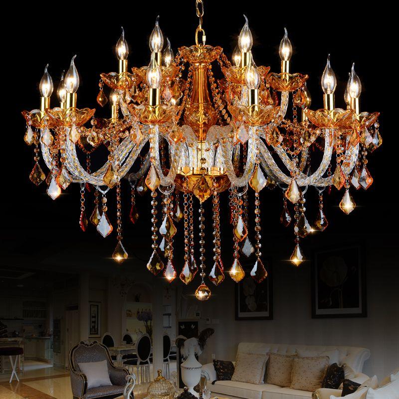 High quality amber k9 crystal chandelier lustre crystal chandeliers high quality amber k9 crystal chandelier lustre crystal chandeliers light lustres de cristal chandelier led villa aloadofball Image collections