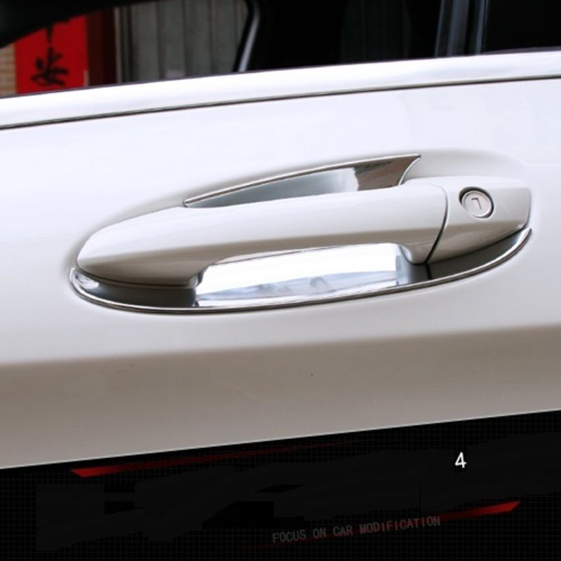 Car Chromium Styling Special Gla200 220260 Door Handle Mouldings Sticker Modified Bright Bowl For Mercedes Ben Mercedes Benz Gla Bright Bowls Replacement Parts